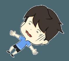 Loma playful boy + sticker #12061156