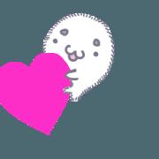 สติ๊กเกอร์ไลน์ muf-muf seal moving