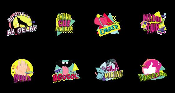 สติ๊กเกอร์ไลน์ Nineties Nostalgia Stickers