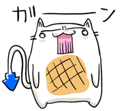 Cat , such as rice cake sticker #12064599