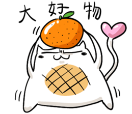Cat , such as rice cake sticker #12064603
