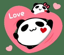 Panda maru - GOOD LUCK sticker #12080535