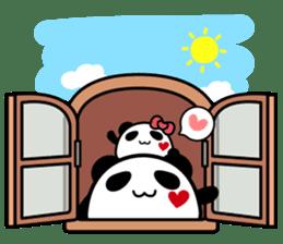 Panda maru - GOOD LUCK sticker #12080536