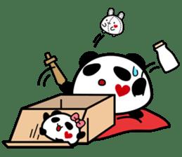 Panda maru - GOOD LUCK sticker #12080539