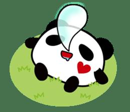 Panda maru - GOOD LUCK sticker #12080541
