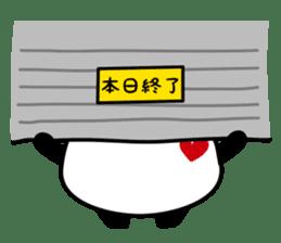 Panda maru - GOOD LUCK sticker #12080542