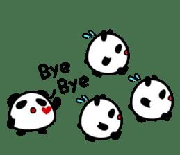 Panda maru - GOOD LUCK sticker #12080545