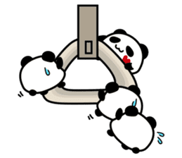 Panda maru - GOOD LUCK sticker #12080547