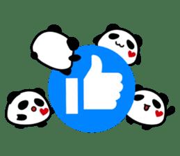Panda maru - GOOD LUCK sticker #12080548