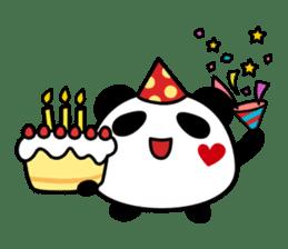 Panda maru - GOOD LUCK sticker #12080550