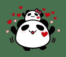Panda maru - GOOD LUCK sticker #12080551