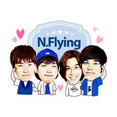 N.Flying OFFICIAL STICKER