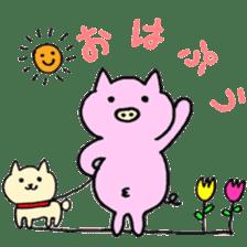 30ish piggy,Piggy-San sticker #12094038