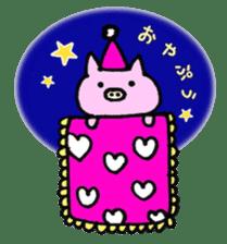 30ish piggy,Piggy-San sticker #12094039