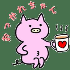 30ish piggy,Piggy-San sticker #12094040