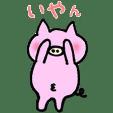 30ish piggy,Piggy-San sticker #12094042