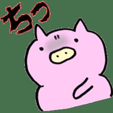 30ish piggy,Piggy-San sticker #12094056