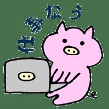 30ish piggy,Piggy-San sticker #12094058