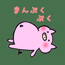 30ish piggy,Piggy-San sticker #12094060
