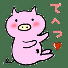 30ish piggy,Piggy-San sticker #12094064
