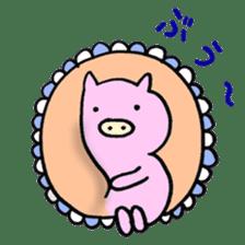30ish piggy,Piggy-San sticker #12094074