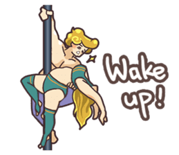 Girls love pole dance fitness(English) sticker #12098448
