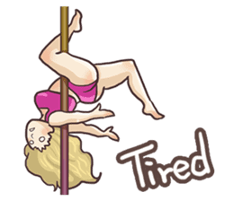 Girls love pole dance fitness(English) sticker #12098450