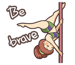 Girls love pole dance fitness(English) sticker #12098457