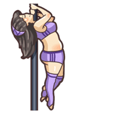 Girls love pole dance fitness(English) sticker #12098466
