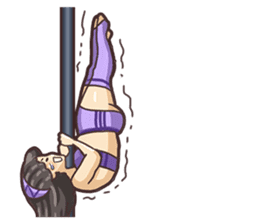 Girls love pole dance fitness(English) sticker #12098468