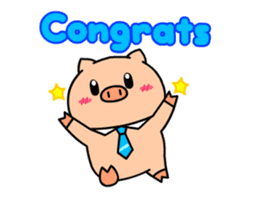 OFFICE PIG : DUKDIK sticker #12101337