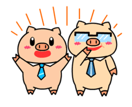 OFFICE PIG : DUKDIK sticker #12101341