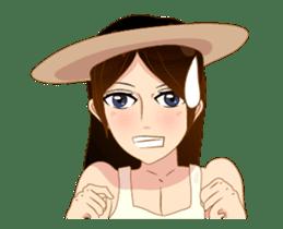 Cartoon lady (anime) sticker #12102638