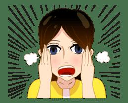 Cartoon lady (anime) sticker #12102641