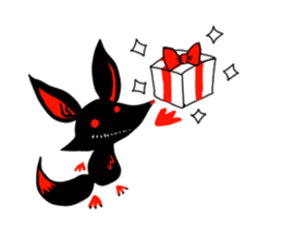 Shadow fox light up! sticker #12103326
