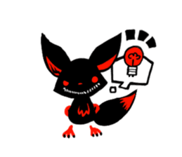 Shadow fox light up! sticker #12103333