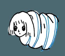 Cocoon girl (Thai version) sticker #12103438