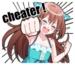 Cheerful moe girl, Meitan! Vol.4 [ENG] sticker #12130601