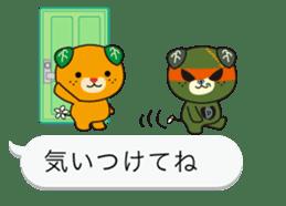 Balloon of Mikyan and dark Mikyan sticker #12133415