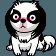 สติ๊กเกอร์ไลน์ MONAKA of a Japanese Spaniel which moves