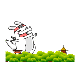 Kotaro Rabbit Ninja2 sticker #12150691
