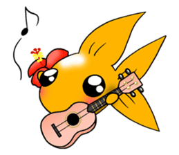 Mini,Little Big Goldfish sticker #12152410