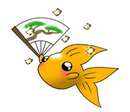 Mini,Little Big Goldfish sticker #12152412