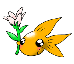 Mini,Little Big Goldfish sticker #12152420