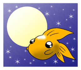 Mini,Little Big Goldfish sticker #12152421