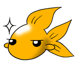 Mini,Little Big Goldfish sticker #12152425
