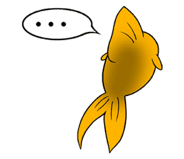 Mini,Little Big Goldfish sticker #12152432