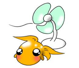 Mini,Little Big Goldfish sticker #12152444