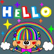 สติ๊กเกอร์ไลน์ Rienbow colorful animation sticker