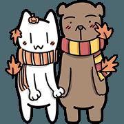 สติ๊กเกอร์ไลน์ แมวขาว & หมีช็อกโกแลต (เจ้าความรัก)
